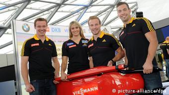 Команда немецких саночников, которая собирается на Олимпиаду в Сочи