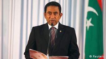 Abdulla Yameen bei seiner Vereidigung im November 2013 (Foto: Reuters)