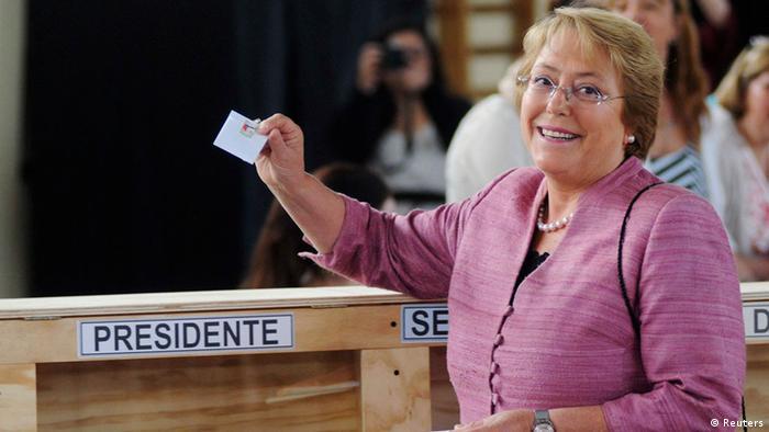 Präsidentschaftsfwahlen 2013 in Chile Bachelet