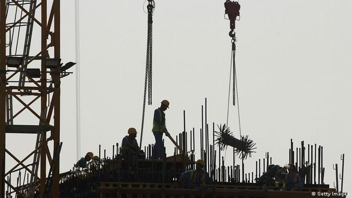 Katar Doha Baustelle Arbeiter (Foto by Sean Gallup/Getty Images)