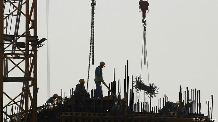 Katar Doha Baustelle Arbeiter
