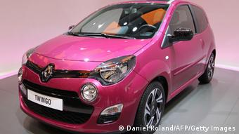 The new Twingo is displayed at a French carmaker Renault stand DANIEL ROLAND/AFP/Getty Images