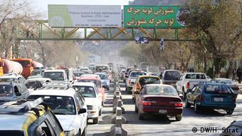 Kabul steckt im Stau wegen der Sicherheitsmaßnahmen (Foto: DW)