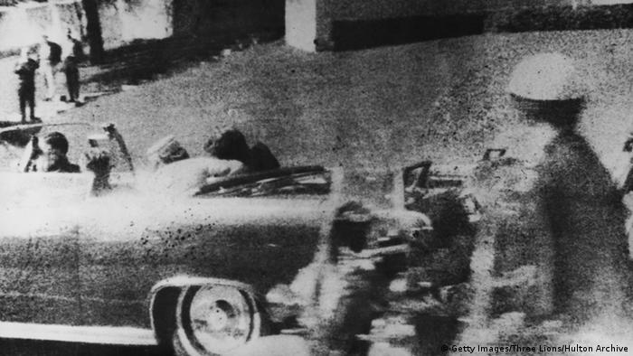 Picture of Kennedy's car shortly after he was shot