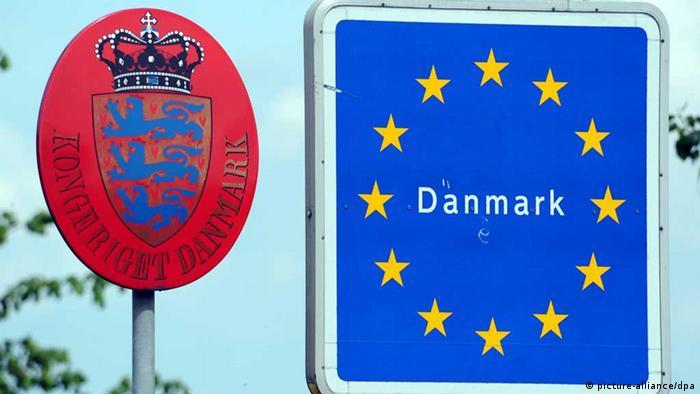 Danish coat of arms on national border (Photo: Carsten Rehder/dpa)