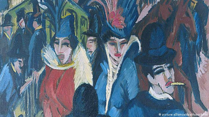 Фрагмент картины Эрнста Людвига Кирхнера Улица Берлина. 1913 г.