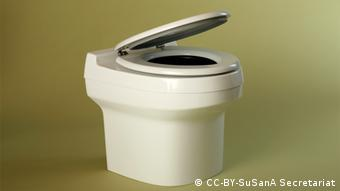 A self-sufficient toilet housing for composting human waste. (Photo by Berger Biotechnik)