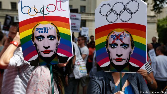 Rusija - homoseksualci protestuju protiv Putina