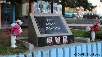 memorial in North Mitrovica to ethnic Serbs killed in the Kosovan war.