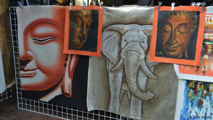 Description: Buddha paintings on sale at Khao San Road in Bangkok (Backpackers' street) Date: 11/11/13 (Photo: Nik Martin)
