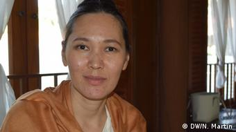 Description: President of the Knowing Buddha organisation Ms. Acharawadee Wongsakon Date: 10/11/13 (Photo: Nik Martin)