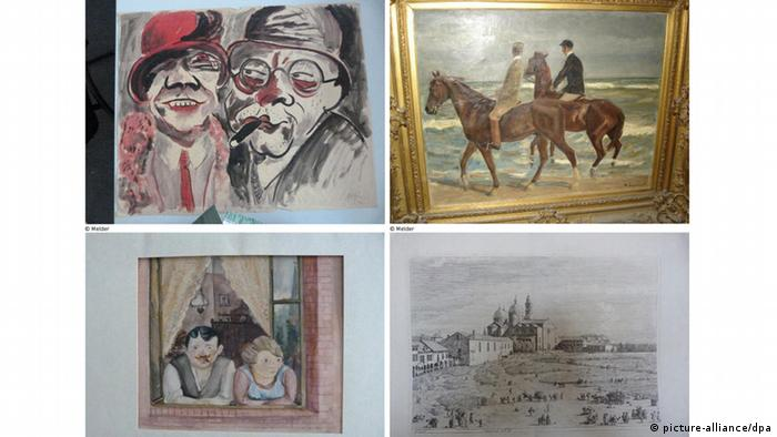 Art found in the apartment of Cornelius Gurlitt. Photo: dpa