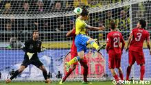 Fußball WM 2014 Qualifikationsspiel Schweden - Portugal