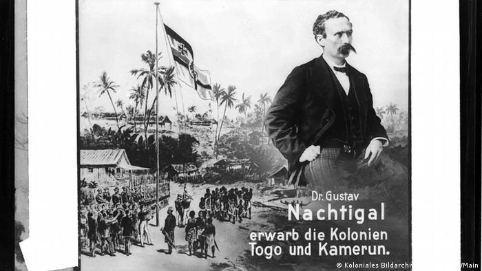 Deutschland Kolonialgeschichte Kamerun Flaggenhissung mit Gustav Nachtigal