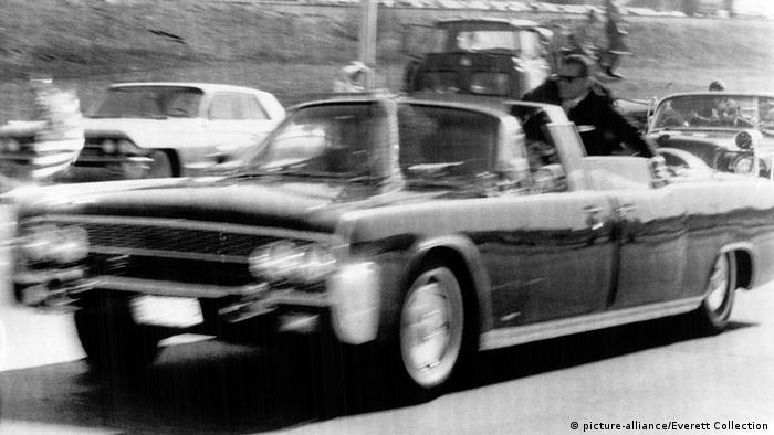 Kennedy's car bringing him to hospital