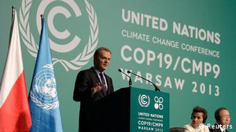 Donald Tusk speaks at the 2013 Climate Conference in Warsaw