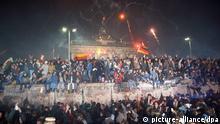 Berliner Mauer gesamtdeutsches Silvester am Brandenburger Tor 1989