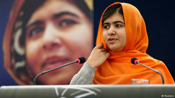 Pakistani teenage activist Malala Yousafzai, who was shot in the head by the Taliban for campaigning for girls' education, addresses the European Parliament after she received her 2013 Sakharov Prize during an award ceremony in Strasbourg, November 20, 2013. (Photo: REUTERS/Vincent Kessler)