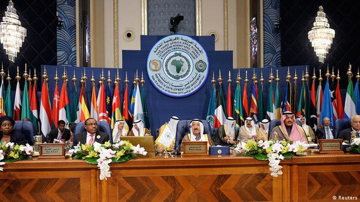African-Arab leaders at a summit in Kuwait Photo:REUTERS/Stringer
