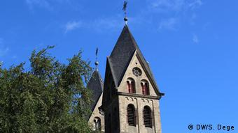 The spire of Immerath's church, which the locals refer to as a cathedral. (Photo DW/S. Dege)