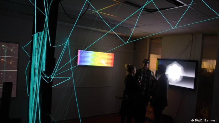 Big Data Art 2013 exhibition at the Kreativ-Loft in Munich, Photo: DW / D. Barwell