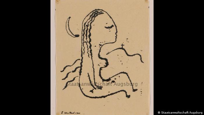 'Musing Woman,' Fritz Maskos
