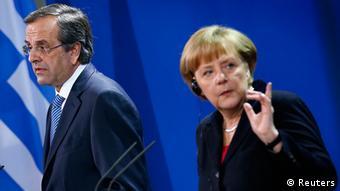 Σαμαράς, Μέρκελ κατά την τελευταία επίσκεψη του έλληνα πρωθυπουργού στο Βερολίνο
