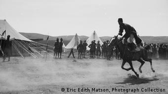 A man on horseback