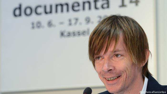 A portrait of Adam Szymczyk at the announcement that he would nead the next Documenta in 2014 (Photo: Uwe Zucchi)