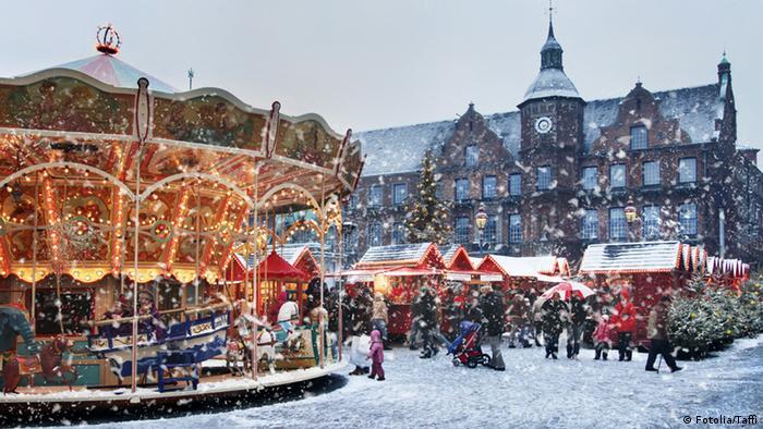 Один из рождественских базаров в Старом городе, Дюссельдорф