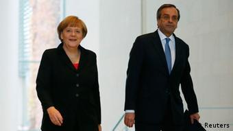 Меркель и Самарас в Берлине