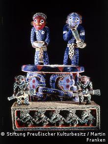 Königsthron mandu yenu Kamerun, Königreich Bamum, 19. Jh. (Foto: Stiftung Preußischer Kulturbesitz / Martin Franken)