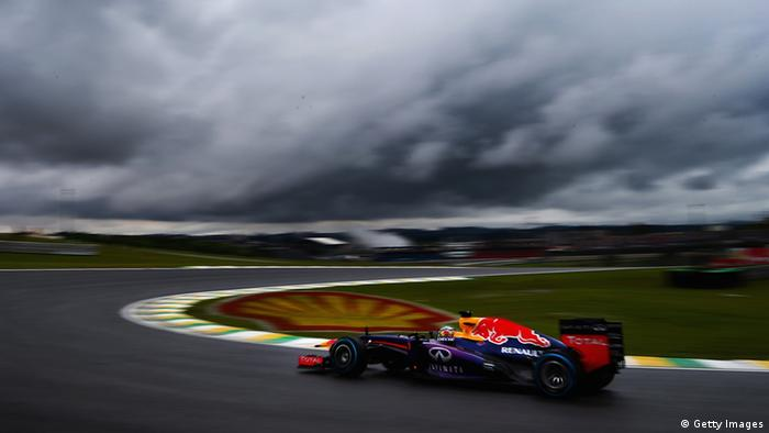 SAO PAULO, BRAZIL - NOVEMBER 23: Sebastian Vettel of Germany and Infiniti Red Bull Racing drives during the final practice session prior to qualifying for the Brazilian Formula One Grand Prix at Autodromo Jose Carlos Pace on November 23, 2013 in Sao Paulo, Brazil. (Photo by Clive Mason/Getty Images)