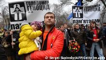 Ukraine Marsch zum Gedenken an die Holodomoar Hungersnot