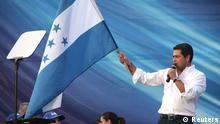Honduras Wahlen 2013 Präsidentschaftskandidat Juan Orlando Hernandez