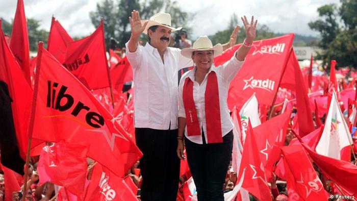 Resultado de imagen para Presidente Zelaya y Xiomara Castro imágenes