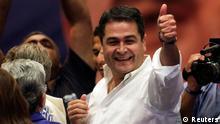 El presidente Juan Orlando Hernández aspira a la reelección.