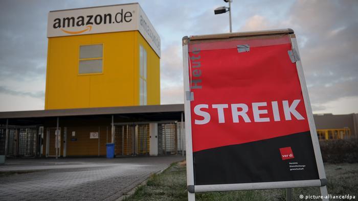 Amazon Verdi Streik Mitarbeiter Deutschland 25.11.2013