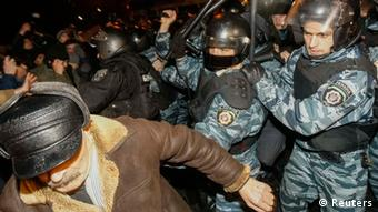 Ukraine Protest EU Integration Kiew Demonstranten Polizei
