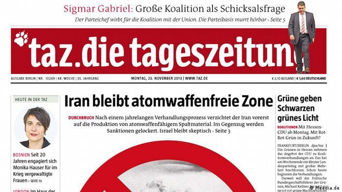 Iran Atomeinigung Presseschau taz (Meedia.de)