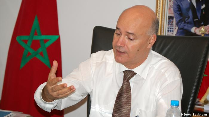 Aniss birou, Minister in charge of Moroccans living abroad and immigration. Rabat, Morocco, November, 14th 2013