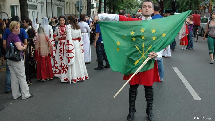 Черкес на карнавале культур в Берлине