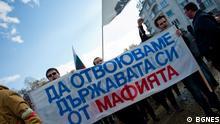 Antiregierungsproteste in Sofia, Bulgarien BGNES Rechte geklärt via: DW/ Darya Popova-Witzel