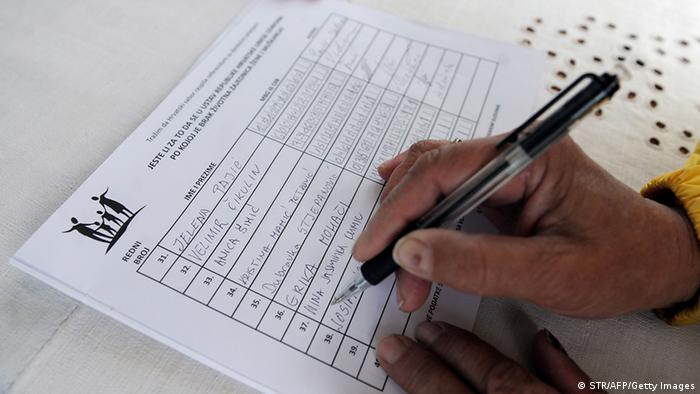Croatian citizen signing a petition calling for a referendum opposing gay marriage (Photo: STR/AFP/Getty Images)