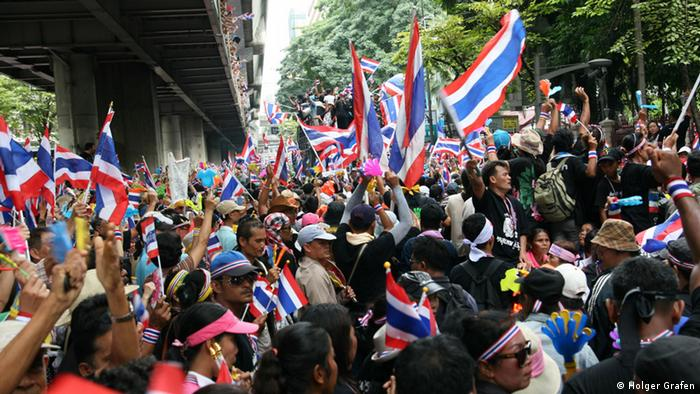 Anti-government protests in Bangkok on November 25, 2013.