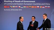 Gipfeltreffen China-Osteuropa in Bukarest