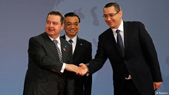 Gipfeltreffen China-Osteuropa in Bukarest Li Keqiang, Ivica Dacic und Victor Ponta