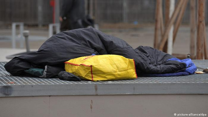 Obdachlose im Winter
