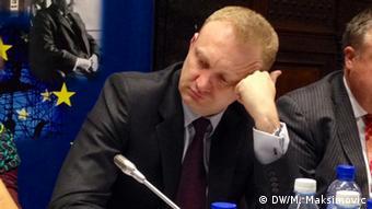 Dragan Djilas Demokratische Partei Serbien in Brüssel 26.11.2013