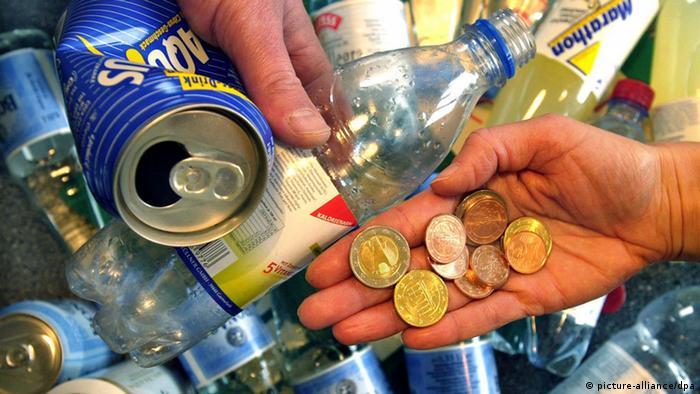 Пляшки, які німці здають на переробку
